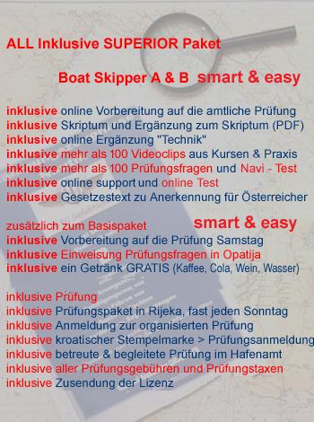 Unterschied österreichische kroatische Bootsführerscheine